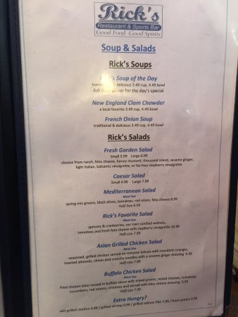 Sneads Ferry, NC: Lunch Menu