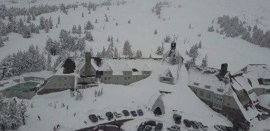 Bird's Eye View of Timberline Lodge