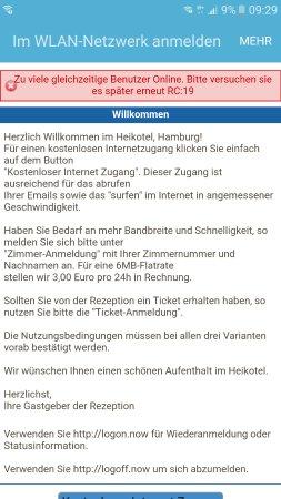 Heikotel - Hotel Am Stadtpark: Soviel zu Free WiFi