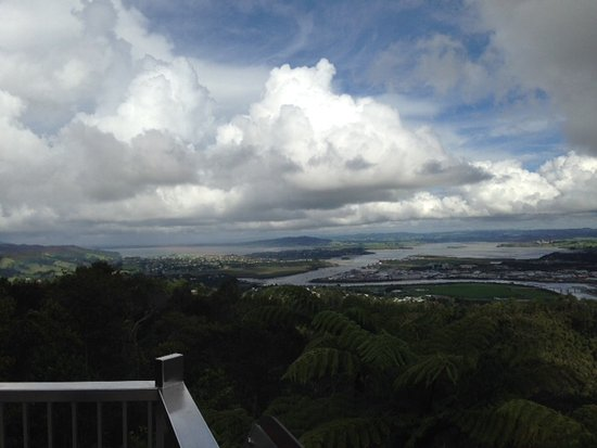 Mount Parihaka War Memorial: View over harbour area