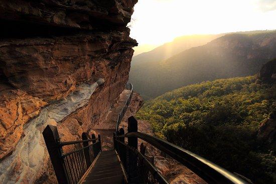 Walk way at Wentworth Falls