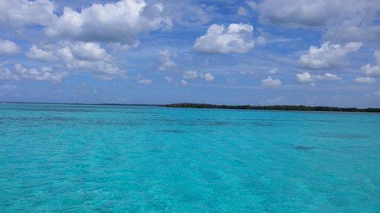 Basse-Terre, Guadeloupe : grand cul de sac marin vu sur l'îlet Fajou