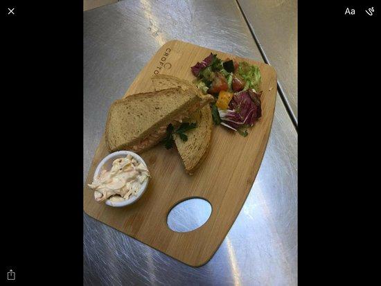 Lockerbie, UK: Sandwich from the lunch time menu. 