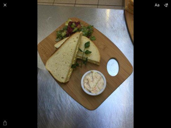 Lockerbie, UK: Sandwich from lunch time menu 