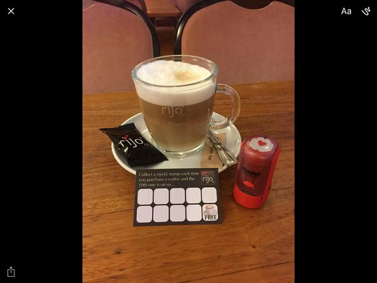 Lockerbie, UK: Rijo coffee.