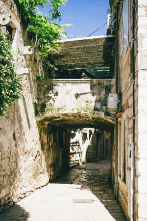 Vis, Croatia: street