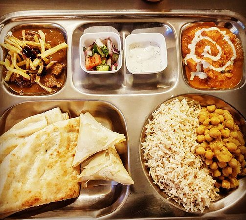 Ossett, UK: Thali selection from one weekend. Menu changes weekly.