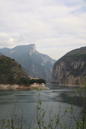 Yichang, China: Dalao Ridge and entrance to Qutang Gorge (Kui Gate) on the Yangtze River (from White Emperor Cit