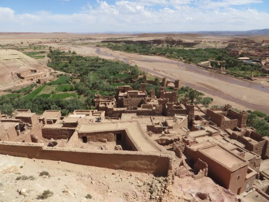 Morocco Desert Adventures: Ait benhaddou from above