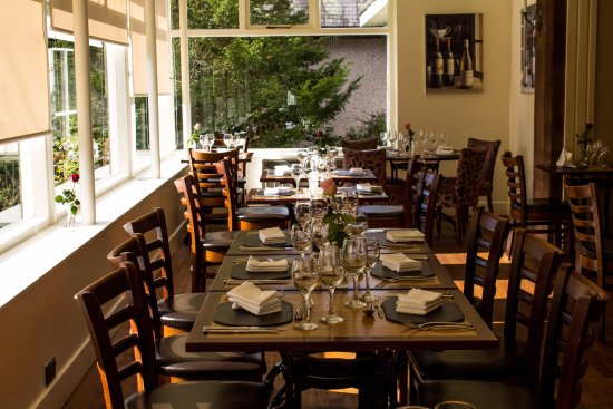 Crieff, UK: Our light and spacious restaurant has great views of our garden