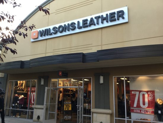 Monroe, OH: Wilsons leather.