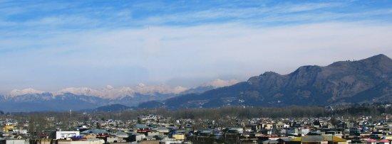 Abbottabad, Paquistão: city view from stargaze hotel
