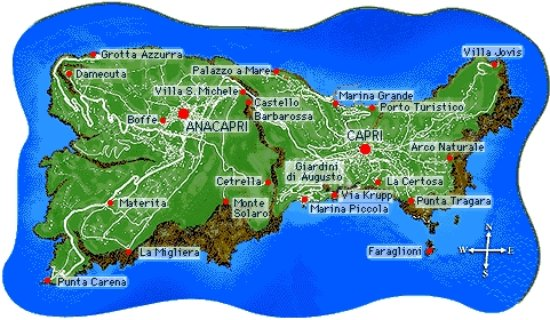CAPRI MAP Picture of Capri Tour Information Capri TripAdvisor