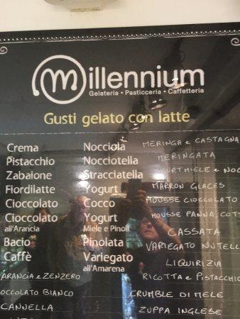 Gelateria Millennium: gelati del giorno