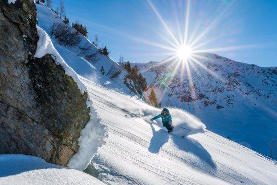 Oxygene Ski School Val D Isere Offpiste Skiing On A Bluebird Day