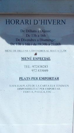 Santa Cristina d'Aro, Spania: EXCELENTE MENU diario...