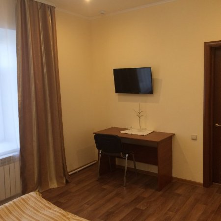 Pudozh, Russie: Во всех номерах отеля: телевизор, телефон, холодильник, туалетные принадлежности.