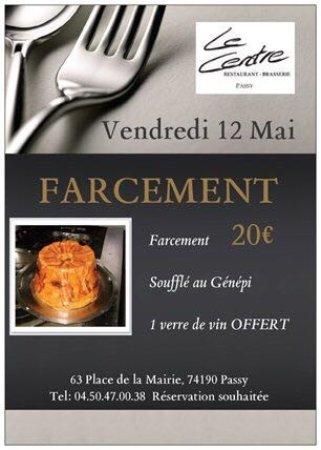 Passy, Frankrike: soirée farcement ,avant les beaux jours , profitez des plat d'hiver :)
