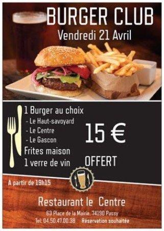 Passy, Frankrike: un nouveau venu dans le burger club.... Le gascon ...