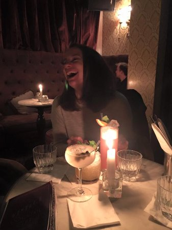 Vintage Cocktail Club: Birthday girl and her drinks!