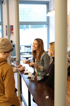 Tryon, Carolina del Norte: Great place to hang out with friends and enjoy artisan treats; coffee, ice cream, and pastries