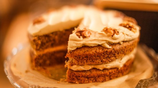 Surbiton, UK: Our delicious coffee and walnut cake