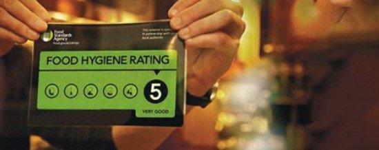 Bamber Bridge, UK: Top Score For Food Hygiene