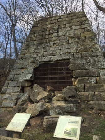 Hope Iron Furnace: Signs about the history of the furnace.