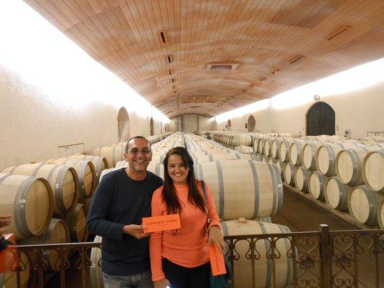 Pirque, Chile: Guarda de vinho nos barris