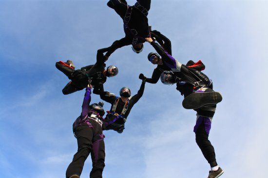 Baldwin, WI: Licensed Skydivers doing a  Formation