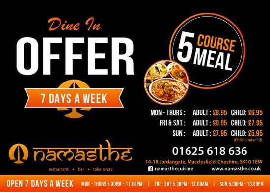 Macclesfield, UK: Fantastic Dine In Offers!