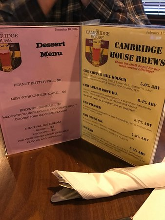 Granby, CT: Cambridge House Brew Pub