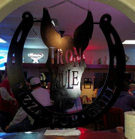 Ironton, MO: Iron Mule logo inside - made of iron!