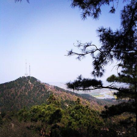 Xuancheng, Çin: Очень красивые и живописные виды открываются с вершины. Здесь вы можете найти чайные плантации,