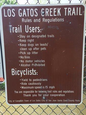 Los Gatos Creek Trail: Trail Sign 1