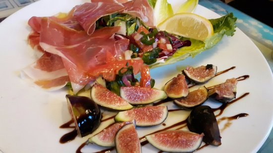 Almonte, Canadá: fig and prosciutto appetizer special
