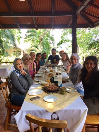 Atenas, Costa Rica: Our amazing breakfast that we were invited to with two other groups. Thank you!