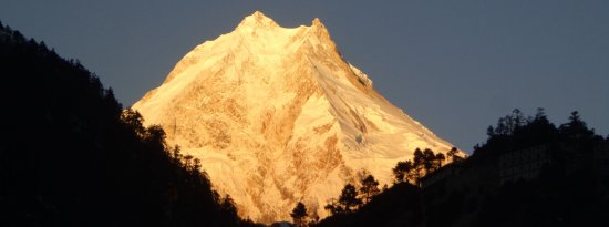 Kathmandu Valley, Nepal: Mt Manaslu (8156m), Manaslu circuit trek is one of the most popular & adventure trekking in Nepa