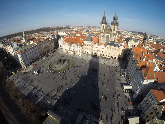 Old Town Hall and Astronomical Clock: View of town square from Astronomical Clock Tower
