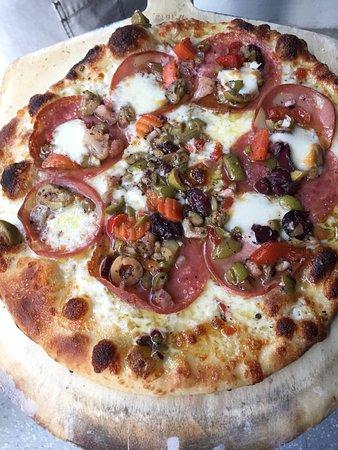 Stockton, NJ: NOL Muffalata style Pizza. Amazing!