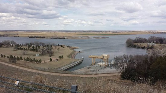‪‪Ogallala‬, ‪Nebraska‬: Lake Ogallala viewed from the dam‬