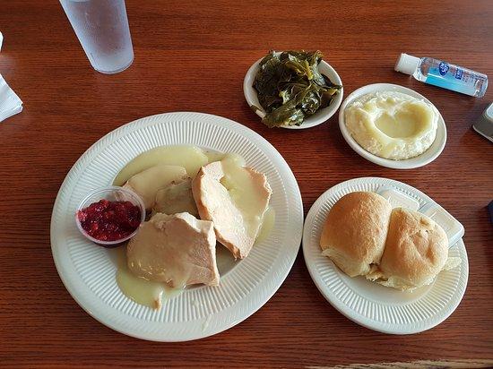 Staunton, فيرجينيا: Turkey dinner.