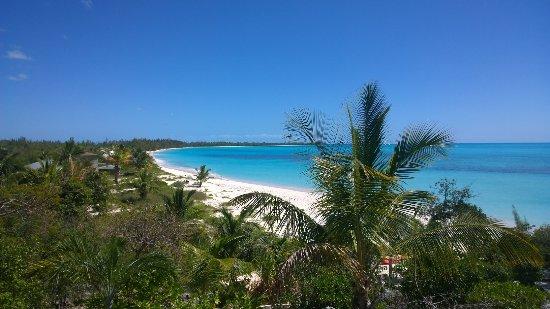 Shannas Cove Resort: Vista de la playa, desde camino a ella.