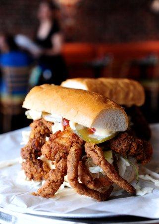 League City, TX: Soft-Shell Crab Po-Boy