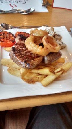 Llandrindod Wells, UK: My steak