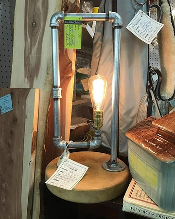 Grain Valley, MO: repurposed lamp
