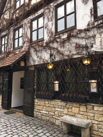 Berching, Germany: restaurant front exterior