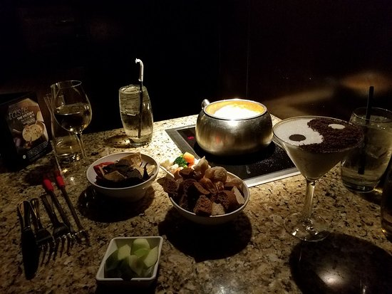 The Melting Pot: Fiesta Cheese Fondue. Yin Yang Chocolate Martini