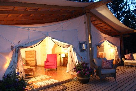 Siwash Lake Wilderness Resort: Exclusive Canvas Cabin
