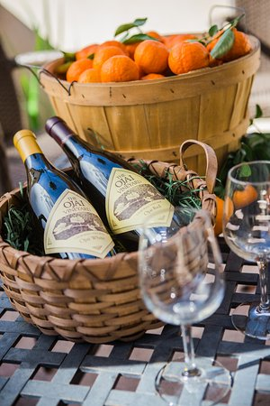Ojai Vineyard Wine Pairs well with Ojai Pixie Tangerines